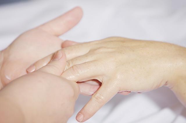 Massage the finger